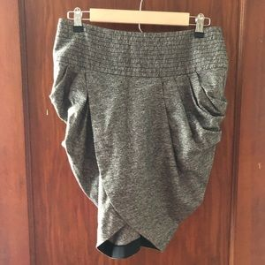 L.A.M.B wool and silk gray tulip skirt! Size 4!